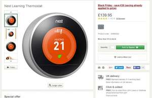 Nest Thermostat @ £139.95 at John Lewis! Changed price today