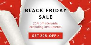 BLACK FRIDAY 20% Off Sitewide @ Musicroom
