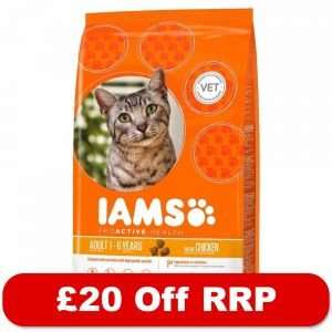 10kg Iams Dry Cat Food - £20 Off RRP!* at Zooplus (Free GB del on orders over £29)