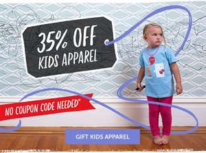 35% off kids clothing at Redbubble + 20% off everything else with code BF20