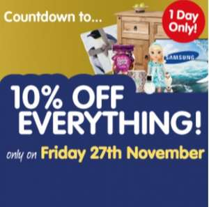 10% off EVERYTHING @ B&M