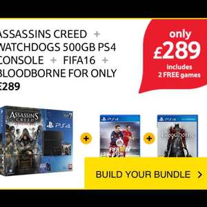 PS4 500GB with Ac Syndicate+ watch dogs+ Fifa 16+ Bloodborne £289 @ Tesco