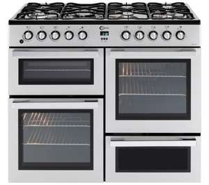 FLAVEL MLN10FRS Dual Fuel Range Cooker - Silver & Chrome £469.99 @ Currys