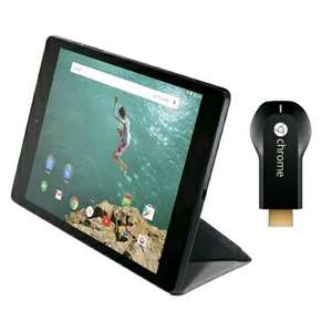 Nexus 9 32GB in sand with refurbished v.1 Chromecast and magic cover for £269.99 @ Expansys