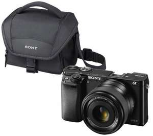 Sony A6000 + 16-50 mm f/3.5-5.6 OSS Zoom Lens @ Currys (£353 with cashback) + Free Sony case