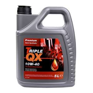 Triple QX 10w40 Semi-Synthetic Engine Oil 5 ltr - buy one get one free (works out at £9 each) - £17.99 @ Eurocarparts