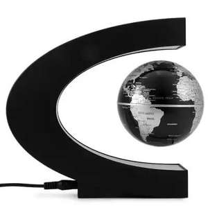 C Shape Magnetic Levitation Floating Globe World Map with LED Light Decoration for Home Office £13.85 @ Gearbest