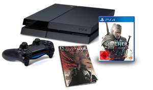 PlayStation 4 - Konsole (500GB) inkl. The Witcher 3: Wild Hunt + The Witcher Killing Monsters (Comicbuch