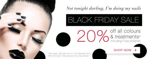 20% off all SensatioNail Colours, Treatments & Fuse Gelnamel Colours