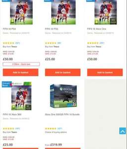 FIFA 16 deals at tesco ps4/Xbox one £30, PS3 /Xbox 360 £25