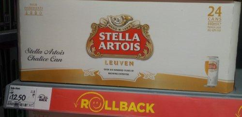 24 cans stella artois £12.50 @ asda