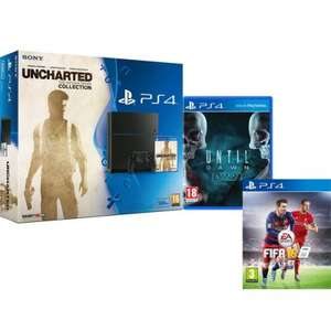 PS4 500GB + Uncharted, Until Dawn Extended Edition & FIFA 16 @ The Hut
