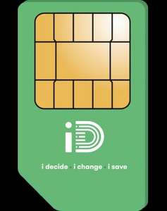 ID Mobile 250 Minutes 5000 Texts 1GB 4G Data £5.00 per month