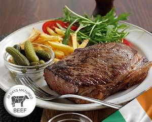 10 x 28 day matured Rump steaks  7-8oz  + free delivery £24 @ Westin Gourmet