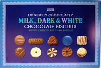 M&S Milk, Dark & White Chocolate Biscuit Selection 500g instore half price only £3