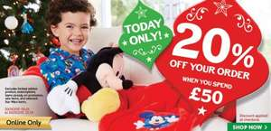 20% off £50 spend at Disney Store for Cyber Monday