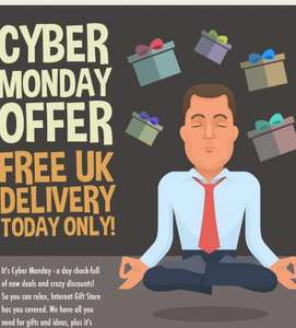 CYBER MONDAY FREE UK DELIVERY @ Internetgiftstore.com