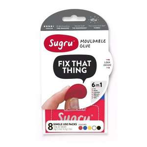 Sugru Multi-Colour (Pack of 8) £6.99 from Amazon UK (Nearly 1/2 price)