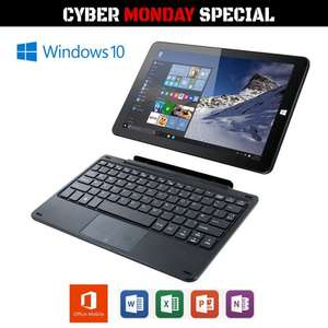 Linx 1010B Windows 10 2 in 1 Quad Core Tablet with Keyboard & MS Office 2GB 32GB £119 @ LaptopOutletDirect/ebay