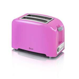 Swan 2 Slice Pink Toaster 2 year guarantee + Free Delivery £6.50 @ Swan