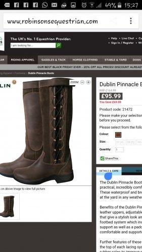 Dublin Pinnacle Boots - £95.99 @ Robinsons Equestrian