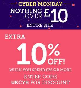 ALL items at Pumpkin Patch under £10. Free delivery code with no minimum spend: UKCYB also a further 10% off of you spend over £35