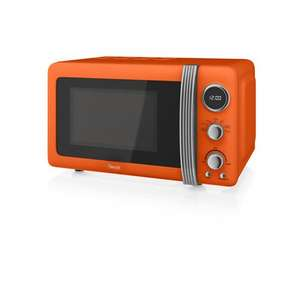 Swan Retro Digital Microwave, 20 Litre, 800 W, Orange + Free Delivery  £58.99 @ Swan