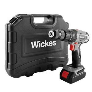Wickes 18V 1.3 Ah Li-ion Cordless Combi Drill with 2 Batteries £49.99 click+collect or extra £5.95 delivered.