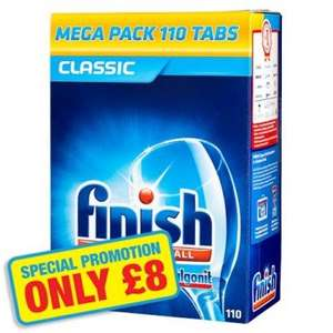Finish Powerball Dishwasher Tablets 110 Pack - Only £8 @ Poundland