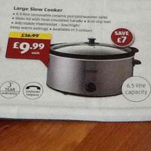 6.5L Large Slow Cooker £9.99 at Aldi from Thursday 10th December! 3 Yr Warranty