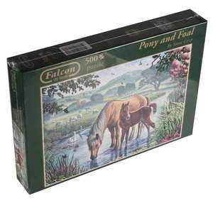 Falcon de Luxe - Pony and Foal Jigsaw Puzzle (500 Pieces) £3.85 @ Amazon (add on item)