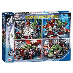 Marvel Avengers Assemble - 4 x 100 Piece Jigsaw Puzzles by Ravensburger £8.99 @ Argos Free C&C
