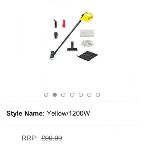£49.50 Kärcher SC1 Premium Steam Cleaner, Handheld and Steam Mop In One @ Amazon