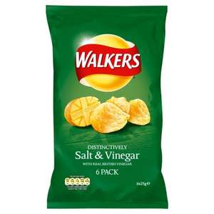 Walkers crisps 6 pack £1 @ Co-op