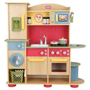 Little Tikes Premium Cooking Creations Wood Kitchen only £100.00 at Amazon and Tesco