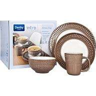 Denby Intro 16 Piece, 4 Person Textured Dinner Sets 3 to choose from only £17.50 or £8.75 with clubcard boost @ Tesco direct