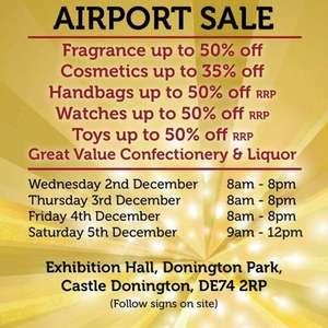 Christmas Perfume Sale - World Duty Free - Donington Hall Park Exhibition Centre, DE74 2RP  Near East Midlands Airport