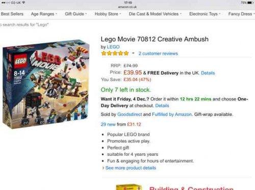Lego Movie Creative Ambush Set 47% Off £39.95 @ Amazon