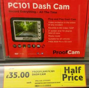 Proofcam PC101 Dash Cam £35 down from £70 @ Tesco instore and online