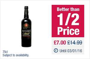 Taylor's Select Reserve Port (75cl) was £14.99 now £7.00 @ Co-op Food Stores