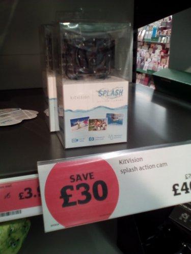 KitVision Splash action camera rrp70 £40.00 @ Sainsburys instore