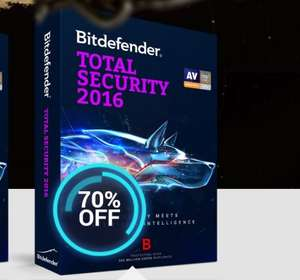 Bitdefender 2016 70% off 3 pcs 12 months for each product.