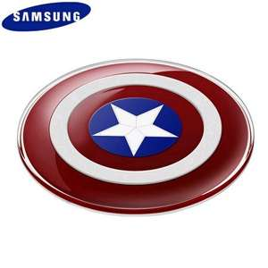 Official Samsung Avengers Qi Wireless Charger Pad - Captain America - Mobile Fun