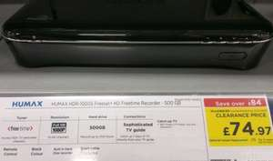 Humax HDR-1000S Freesat+ HD Freetime Recorder 500gb £74.97 @ Currys Instore