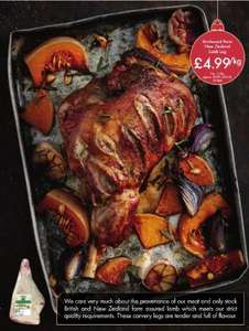Leg of Lamb - £4.99kg - LIDL - From 10th December