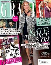 Grazia £12.75 for 3 months (13 issues), but £8.40 TCB and free gift worth £37
