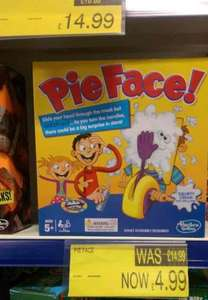 pie face was £14.99 reduced to £4.99 @B&M stores
