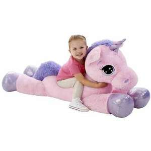 "Giant 45"" Animal Alley Pink Unicorn - down from £59.99 now £29.99 + free delivery at Toys R us (INSTORE?)"