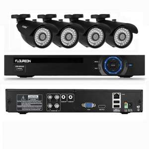 Floureon 4CH AHD CCTV DVR Recorder with 4x 1500TVL 1.3MP Night Vision Security Cameras Kit (P2P Cloud Remote Access, Smartphone View& Record, Motion Detection) £109.99 @ Sold by Oxford Street and Fulfilled by Amazon