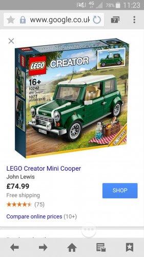 Lego Creator Mini Cooper - £74.99 @ John Lewis